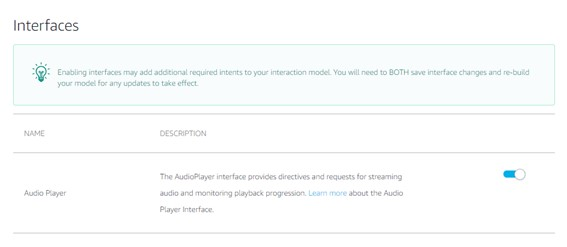 Interface Audio Player - Skill Para Webradio
